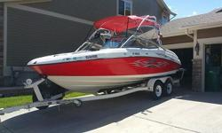The AR210 is powered by two high-performance, 110 horsepower, four-cylinder, 1052cc Yamaha marine engines. Electronic fuel injection feeds each of these powerplants, providing excellent throttle response throughout the total RPM range.Send your phone and