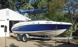 Beautiful blue and white Yamaha SX 210 jet boat for sale. When serviced in May, the engines only had 90 hrs on them. Comes with lots of accessories and includes a bimini top as well as a waterproof (towable) Yamaha cover for outdoor storage. Selling for a