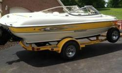 Stock Number: 712920. 2007 Sting Ray 185 LX, ONLY 80 Hours, on 3.0 Merc HO, Comes with matching 2007 Eagle Trailer, Always kept inside Heated Garage, 4 cyl- Boat all day for cheap, Perfect Condition, Comes with Ropes, Life Jackets,Tube,Wake board, Just