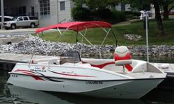 Stock Number: 713804. Always kept in garage or dry docked. Very low hours. Whether for cruising, sightseeing, watersports or fishing, the Sun Tracker Party Deck 22 deck boat is your ticket to good times with family and friends. It has room for 10, and