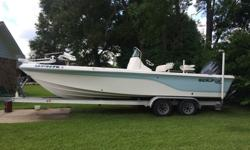 2007 24.5ft Seafox Bay Boat with 225 Yamaha 4 Stroke engine-low hours. Minn Kota Riptide trolling motor. Tandem aluminum trailer. Only 1 owner. Well-maintained and in very good condition. Beautiful and great boat, selling because we just don't use it