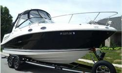 Stock Number: 712712. THIS IS AN AWESOME CRUISER AND TRUELY PRICED TO SELL FAST! I HAVE IT PRICED LOW TO MOVE IT QUICK! 2007 Sea Ray 260 Sundancer, 28 feet, This is an exclusively fresh water boat on a custom built Loadmaster Trailer. Factory black hull,