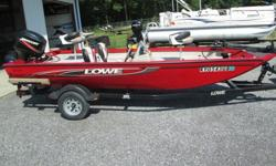 ,.,,.,much bigger than a Bass tracker 175TXW.... Built much better.... this is a big boat..... wide runs perfect... seats have a couple of sun burns.... but this boat is in great shape.... brand new batteries.... runs perfect.... everything is here....