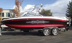 This 2007 Air Nautique 236 Team Edition is looking for a new home. Nicely loaded for a great day/week on the water. Some of the cool features are the swivel racks, tower speakers, tower lights, theater seating, heater and more. All this being pushed