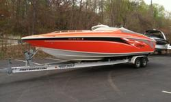 Fresh water boat, very clean. 325 hours on the boat. Always stored inside throughout the winter. Factory custom paint (orange) Engines: 496 twin mags100% fully serviced this year. Boat is mint and ready to ride. Serious inquiries only please. Boat is at