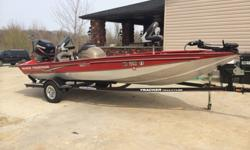 This is a 19 foot very clean and stable 2007 Bass Tracker. It has a 90 horse mercury motor with new plugs and lower unit grease change, it has less than 50 hours on the motor. It has a motor guide troller motor, 2 new batteries, new tires, freshly packed