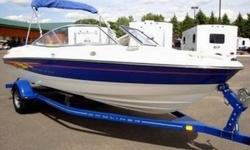 2007 BAYLINER 205 BR WITH A 4.3L 190HP MERCRUISER ENGINE. THIS BOAT HAS FULL FACTORY WARRANTY (LIFETIME ON THE HULL-5 YEAR ON THE DECK-2 YEAR ENGINE). SAVE THOUSANDS AND GET A NEW BOAT AT AN UNBELIEVABLE PRICE! 45.7 MPH. IT HAS THE BIMINI TOP w/BOOT,