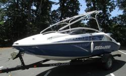 2007 BOMBADIER SEA-DOO 200 SPEEDSTER BOAT & TRAILER SKI BOAT WAKE BOAT THIS IS A PRIVATELY OWNED 2007 BOMBADIER SEA-DOO 200 SPEEDSTER BOAT & TRAILER SKI BOAT WAKE BOAT. IT HAS LESS THAN 50 ORIGINAL HOURS AND IN GREAT RUNNING CONDITION. COSMETICALLY ITS IN