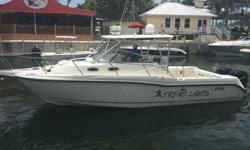 30 foot Boston Whaler Conquest. 2 Outboard Mercury 250's under 400 hours. Great for both fishing and lounging. Garmin technology (Touch Screen 5212 and HD Radar), interior cabin w/ satellite TV and bathroom. Engines, Gene, and A/C flushed after every use.