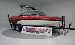 This is one SWEET Surf/Wake boat!! if you want a mint condition V-Drive but can't afford brand new, This is it!!! Even has the quick fill ballast system!! Comes with warranty, Ask about FREE delivery!We have the largest selection of very clean used Boats