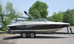 SUPER MINT 2007 Caravelle 237 edition bow rider boat. This one owner boat is in excellent condition and shows to have been very well maintained. Boat has always been kept in dry storage. ONLY 140 HRS ! ! ! 61 MPH ! ! ! EXCEPTIONAL CONDITION ! ! !