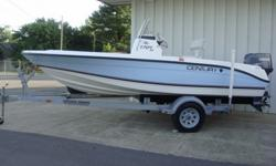 NEW NEVER TITLED 2007 CENTURY 1701 CENTER CONSOLE BAY BOAT. THE BLUE AND WHITE EXTERIOR HAS NO DAMAGE... VERY NICE! IT IS 17FT 2 INCHES LONG WITH A 7 FT BEAM . LIVE WELL FOR BAIT AS WELL AS A 180 QT FISH BOX. YAMAHA 90 TLR ENGINE. THE BOAT WILL HAVE A