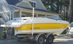 2007 ssi 210 chaparral this boat was stored inside when not in use and it shows upholstery is in perfect condition with no rips or stains. gel coat is in just as good condition with a fresh coat of wax ready for the summer. this chaparral has a factory