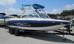 Gorgeous loaded 2007 Super Air Nautique 220 Team Edition for sale. This boat is in great shape inside and out and loaded with all the cool options everyone wants in a Wake Boat. It comes with wake tower, board racks, bimini top, docking lights, wake