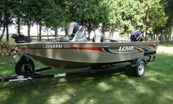 THIS 2007 LOWE 165 FMS ALUMINUM FISHING BOAT WITH A 50 H.P. MERCURY 2 STROKE IS ALL NEED FOR CATCHING FISH. THE BOAT ONLY HAS 75 HOURS OF RUN TIME, I FISH 1 WEEK A YEAR AND MOSTLY USE THE TROLLING MOTOR ONLY.I'M INCLUDING 2 ANCHORS WORTH , AN EASY