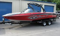You are looking at a 2007 Malibu Wakesetter LSV in like new condition. This is a one owner Malibu that has been stored inside during the winter months. It features a 5.7 liter Indimar 350 inboard engine with a v-drive. The boat is 23 feet in length and