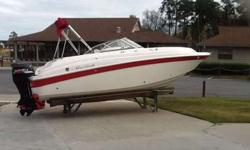 2007 Mariah DX 212 w/ 140 Suzuki 4-stroke & Load Rite trailer. Boat has 130 hours and is in good condition as it has been stored in drystack at Lighthouse Marina. Options include: Transom shower, head, bimini top, depth finder. stereo and bow and cockpit
