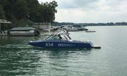 """Length: 21'4""""Width: 96""""Weight: 3300 lbsFuel Cap: 40 GalDual KGB Ballast Tanks to add to wake ramp sizeCuise ControlOpen BowWake Board RacksSnap out carpetStereo SystemTower SpeakersBimini TopBoat CoverTrailer5.7L MCX EngineGreat for Wake Boarding and"""