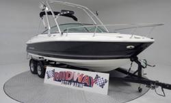 Yes this boat is as nice as it looks in the pictures! Monterey builds one sweet boat! High end quality! Very plush with tons of options! This is a bigger cuddy with lots of room in the cuddy area. Comes with warranty. Ask about FREE delivery!We have the