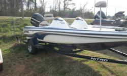 O7 Nitro 482 07' Merc 115 Optimax07' Nitro trailerBeam 86' Overall package length 22.5Engine perfect compression , lake test possible , runs 55 mphOver all good condition hull carpet Seats two small cutsTroll motor depth finder both work Trailer can
