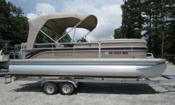 This 2007 23 foot Premier 225 Legend is in great condition inside and out. It comes loaded with all the cool pontoon options that most people want for a fun-filled day on the lake. It has a full mooring cover, huge bimini top, tons of seating, table, sun