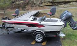 """It has Lowrance X52 and X59DF Sonars with NMEA 2000 Networks, a Minn Kota maxxum troll motor, Dual Pro Charger(30amps, 15amps per bank)The boat was tuned up before storing for the winter months. The boat comes with a """"low profile"""" Actuator for trailer"""