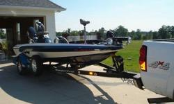 2007 Ranger 188VS bass boat, 150 ETEC Evinrude has about 55 hours on motor. Boat is extra clean and is washed or wiped down after every trip to lake. I'm still fishing in boat once a week. Has lowrance in front and in console has hummingbird gps 778 on