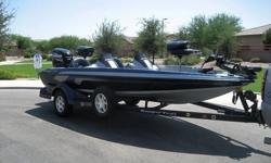 For your consideration, this meticulously cared for 2007 Ranger 188VS Bass Boat. One adult, non-smoking owner. Garage stored since new. Less than 10 hours TOTAL on boat. This Beautiful boat is in PRISTINE CONDITION and is LOADED with options. Outside
