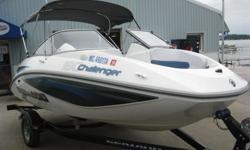 2007 SEA DOO CHALLENGER 180 JET BOATROTAX 4 STROKE 215 HP ENGINEINCLUDES TRAILER25 HOURS ON THIS. It is powered by a 215 HP fuel injected Rotax 4 stroke engine with Super charger. The running lights work. The stereo CD works. All the gauges work. There is
