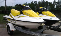 ,.;/2007 Sea Doo GTI-130 3-Seater 4-Stroke 130HP PWC's in very good condition with 104/109 hours. One of the skis is a GTI-130 & the other is a GTI-130 SE (has a retractable boarding ladder). Ski's were both used in Fresh water, very well maintained.