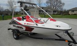 THIS IS A 1-OWNER 2007 SEA DOO SPEEDSTER 150 (215 HP), 15' JET BOAT WITH WAKEBOARD TOWER COMPLETE WITH TRAILER ( FRESHWATER USE ONLY, NEVER IN SALT WATER ).THE BOAT IS IN NICE SHAPE BOTH INSIDE AND OUT ( DOES HAVE SOME DOCK DINGS / SCRATCHES ) . SEATS /