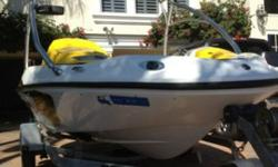 """Brand new!!! Brand new!!!! Brand new!!!Like new only 24hrs!Galvanized trailer. 4 person capacity. The boat has a Sea Doo cover and wake board tower. Garmin 431S GPS unit is included in sale. The top of the line """"Grim Reaper"""" tube and 8 personal floatation"""