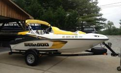 2007 Sea Doo Speedster 150 with the 155hp 4TEC engine. This is not the supercharged model so no superchargers to rebuild!!! Boat has plenty of power and tops out around 50mph. These boats are the best of both worlds! Handles like a jet ski but has the