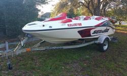 When you contact me please include your phone.The boat has about 63 hrs on it. This thing is a blast and is ready to hit the water for this season. Comes with the trailer and cover. This boat has seen some sun so it does have some fading but the