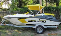 2007 Sea Doo Speedster 150 with only 30 hours on it. Comes as pictured on a single Sea Doo brand trailer. Boat was just serviced by local dealer and needs nothing! Trailer was stored outside and has some surface rust but is structurally sound and tows