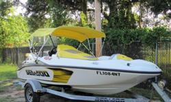 nice,2007 Sea Doo Speedster 150 with only 30 hours on it. Comes as pictured on a single Sea Doo brand trailer. Boat was just serviced by local dealer and needs nothing! Trailer was stored outside and has some surface rust but is structurally sound and