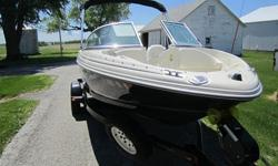 Boat will be ready to hit the water with all coast guard required equipment provided.Exterior is in excellent condition with minor scuffs and scratches consistent with its age.Boat is equipped with a 3.0L 135HP Mercruiser engine.When you contact me please