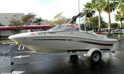 This is a great looking 2007 Sea Ray 185 Sport . This boat is in excellent condition with only 114 hrs . The boat is powered by a Mercury 3.0 135 hp motor that has just had the 100 hr service performed . The boat comes with the original galvanized trailer
