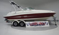 Super clean 21' Deck boat!! These are in very high demand!! Well traken care of and ready for the water! Comes with warranty, Ask about free deliveryWe have the largest selection of very clean used Boats in the Northwest! Check our web site before buying