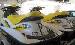 For Sale is (2) 2007 Seadoo 4-tec GTI White/Yellow with Zieman Trailer. These Seadoos have Radiators and are self contained they do not Intake water to stay cool., 3 Seater's 130 HP., 1 SeaDoo has 54 Hours and the other has 57 Hours. Never taken to Ocean