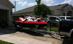 2007 Seadoo RXT 215HP Supercharged - 41 Hours .2007 Seadoo RXP 215HP Supercharged - 17 Hours .Rolls Axle Dual Ski Aluminum Trailer .Multiple Adult and Kid Life Vests .Airhead Big Slice Tube w/ Rope - Can pull up to 2 passengers with the RXT .Regular and