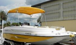 2008 Mercury 150 Optimax less than 100 hours since NEW power head,2005 Aluminum I-Beam Trailer, NEW Stainless Steel Prop, NEW Sea Star Hydraulic Steering, Bimini top, new Sony Stereo for I-Pods, etc., new factory cover, new battery, 2 ladders, removable