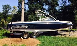 2007 Supra Sunsport 24 V with Boatmate dual axle disc brake trailer.Indmar 325 HP V8 with Walter V Drive. Ski Package ,wakeboard super pass , bimini tower, Kenwood speakers. Three ballast bags with new pumps. Good condition with less than 400 hour.