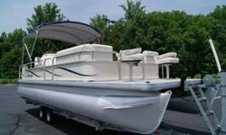 Hull ID Number: GDY2202TJ607FeaturesType: Pontoon Engine type: Single outboard Use: --Length (feet): 24.0 Engine make: Honda Primary fuel type: GasBeam (feet): 9.0 Engine model: 50HP Fuel capacity (gallons): --Hull material: Aluminum Trailer: Included
