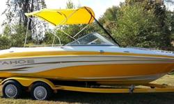 2007 TAHOE Q7-i RARE COLOR COMBO WITH TRAILER THIS BOAT HAS EVERY OPTION AND TURNS HEADS WERE EVER IT GOES WITH LOW HOURS ONLY 86.2 THATS ONLY LESS THEN 14 HRS OF USE PER YEAR !!!SO THIS RARE COLOR COMBO IS ON THE MARKET ,THIS BOAT HAS ALWAYS BEEN