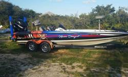 2007 TRITON BASS BOAT WITH UNIQUE WRAP-For a faster respond please reply with your phone number! GREAT WRAPPED BASS BOAT. HAS 2 TALONS THAT GOES TO 12 FEET WITH REMOTES.MOTOR GUIDE DIGITAL TOUR 24 VOLT 82LBS THURST.MECUURY OPTI MAX 225 WITH 97 HOURS.5 NEW