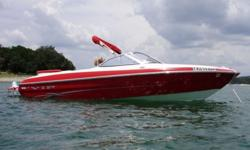 EQUIPMENT: -All composite structure (No wood upholstery or hull.), Custom made Sunbrella bow and cockpit covers, AM/FM/CD Player w/4 speakers, Custom steering wheel, Battery compartment, Rope/storage locker under sundeck, Insulated ice chest in rear deck,