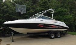 2007 Yamaha AR230There are twin 1052 cc Yamaha high output engines. 320 hp.150 hours. Fresh water use only. Runs perfect.It has been professionally winterized and stored indoors.Extras include two batteries and switch.The tower is wired Amp and Infinity
