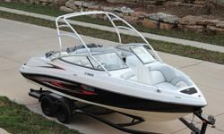 """""""Yamaha AR230 """" Now Available Is This Super Nice 2007 Yamaha AR230 HO With Trailer Included With ONLY 167 Hours. This Yamaha Is Finished In the Most Popular Black Over White With The Red Graphics Package. This 2007 AR230 Is A Nice Clean Perfect Boat For"""