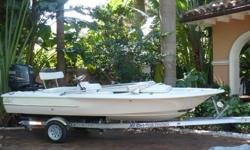 2008 16 ft Chaos Bonefish flat boat with 90 HP Yamaha 4 stroke with only 50 hours.This boat never fished and was a tender on a motor yacht.Trailer ( brand new)Bilge pumpRecessed stainless steel trim tabsPop up cleatsLivewells 316L stainless hardwarePush